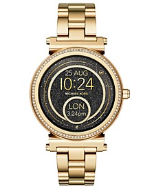 Access Women's Sofie Gold-Tone Stainless Steel Bracelet Touchscreen Smart Watch 42mm