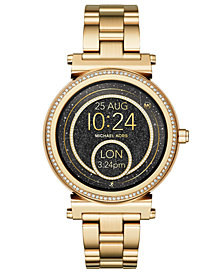 Michael Kors Access Women's Sofie Gold-Tone Stainless Steel Bracelet Touchscreen Smart Watch 42mm