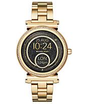 Michael Kors Access Women s Sofie Gold-Tone Stainless Steel Bracelet  Touchscreen Smart Watch 42mm 52591ac13b