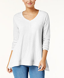 Style & Co V-Neck Swing Top, Created for Macy's