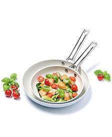 """GreenPan Padova Ceramic Non-Stick 8"""" & 10"""" Fry Pan Set"""
