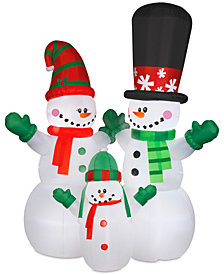 National Tree Company Airblown® Colossal 12' Inflatable Snowman & Family
