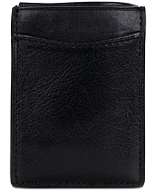 Men's Leather Money Clip Credit Card Case
