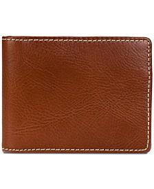 Men's Leather Money Clip Wallet