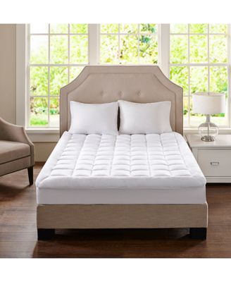 madison park cloud soft twin xl overfilled plush waterproof mattress pad