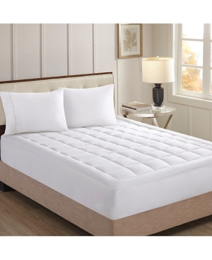 Sleep Philosophy Stanton Luxury Collection 1000Thread Count Quilted King Mattress Pad Bedding