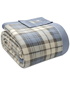 Plaid Micro-Fleece King Blanket