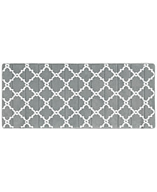 "Madison Park Essentials Merritt Reversible 24"" x 58"" Fretwork-Print Memory Foam Fleece Bath Rug"