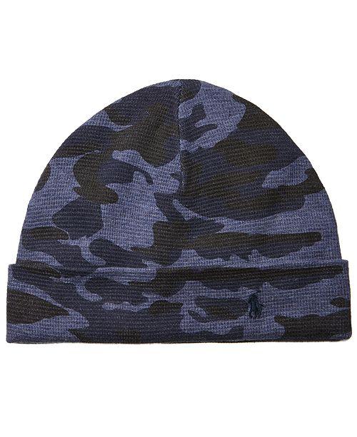 96faf0ae273 Polo Ralph Lauren Men s Cotton Camo Cuffed Hat