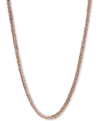 "14k Rose Gold Necklace, 18"" Wheat Chain (9/10mm)"