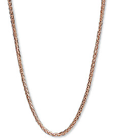 """14k Rose Gold Necklace, 18"""" Wheat Chain"""