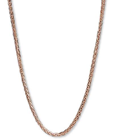 14k Rose Gold Necklace, 18