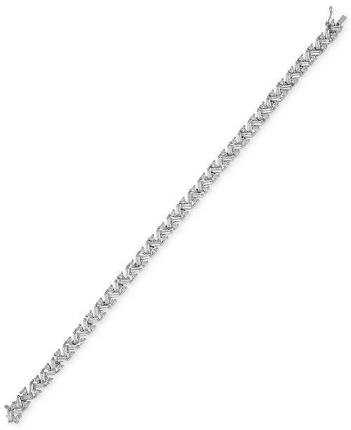 Macy's Cubic Zirconia Tennis Bracelet in Sterling Silver