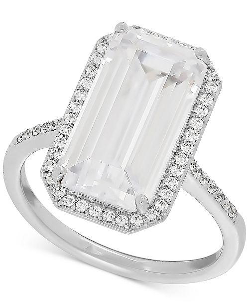 Macy's Swarovski Zirconia Statement Ring in Sterling Silver