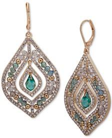 Chandelier earrings shop for and buy chandelier earrings online lonna lilly gold tone green stone beaded chandelier earrings mozeypictures Gallery