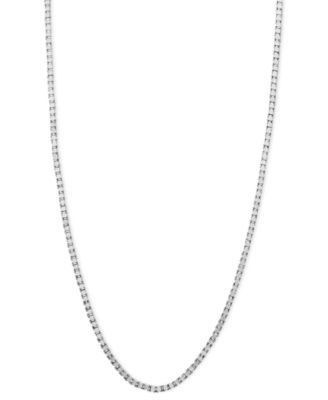 "14k White Gold Necklace, 24"" Box Chain (5/8mm)"