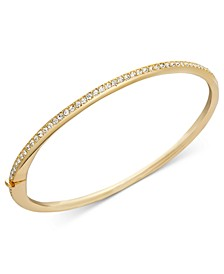 Gold-Tone Thin Crystal Bangle Bracelet, Created for Macy's