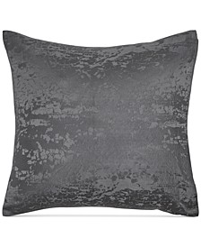 Home Moonscape Reversible Textured Jacquard Charcoal European Sham