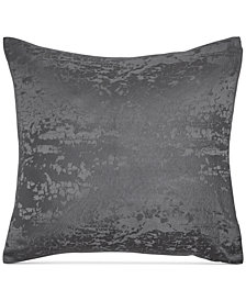 Donna Karan Home Moonscape Reversible Textured Jacquard Charcoal European Sham