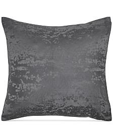 Donna Karan Home Moonscape Reversible Textured Jacquard Charcoal European Sham