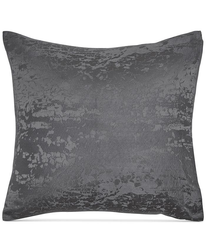 Donna Karan - Moonscape Reversible Textured Jacquard Charcoal European Sham