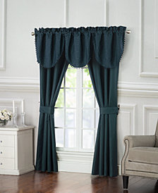 "Waterford Leighton 40"" x 22"" Cascade Window Valance"