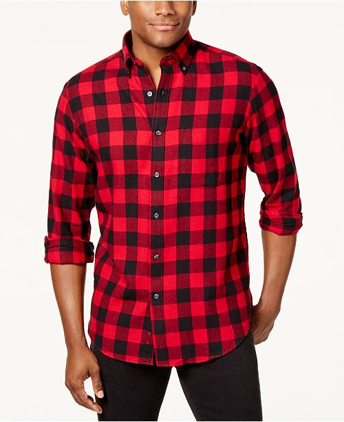 484e9126437 Men's Flannel Shirt, Created for Macy's