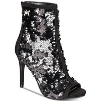 Thalia Women's Sodi Rese Sequin Peep-Toe Booties