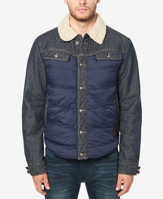 Buffalo David Bitton Men's Jivit Quilted Denim Jacket with Fleece ...