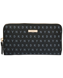 DKNY Bryant Zip-Around Signature Wallet, Created for Macy's