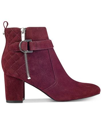 Marc Fisher Weity Quilted Block-Heel Booties - Boots - Shoes - Macy's : quilted booties - Adamdwight.com