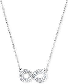 Swarovski Silver-Tone Crystal Infinity Pendant Necklace