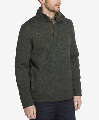 G.H. Bass & Co. Men's Snap Fleece-Lined Pullover - Hoodies ...