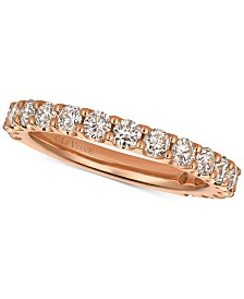 Le Vian® Strawberry & Nude™ Diamond Band (1 ct. t.w.) in 14k Gold or Rose Gold