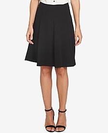 Moss Crepe A-Line Flounce Skirt