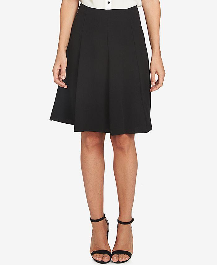 CeCe - Moss Crepe A-Line Flounce Skirt