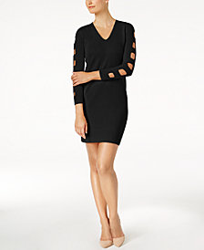 Love Scarlett Petite Ladder-Sleeve Sweater Dress, Created for Macy's