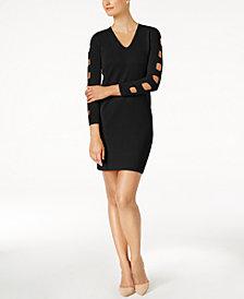 Love Scarlett Petite Ladder-Sleeve Sweater Dress, Created for Macy's