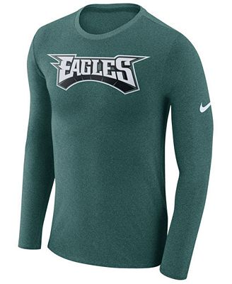 Nike Men's Philadelphia Eagles Marled Wordmark Long Sleeve T-Shirt