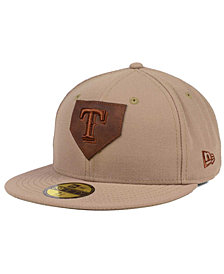 New Era Texas Rangers The Logo of Leather 59FIFTY Cap