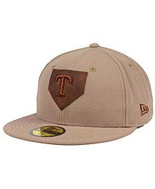 New Era Texas Rangers The Logo of Leather 59FIFTY Cap