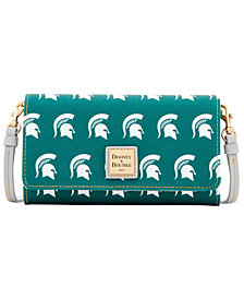 Dooney & Bourke Michigan State Spartans Daphne Crossbody Wallet
