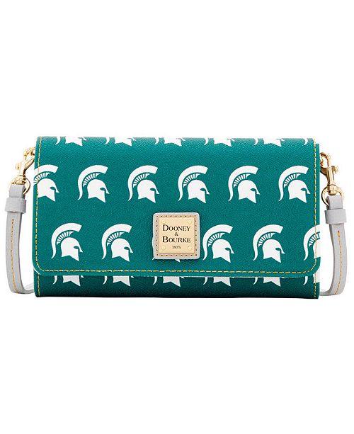 Dooney & Bourke Michigan State Spartans Daphne Crossbody Wallet