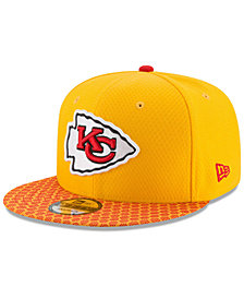 New Era Boys' Kansas City Chiefs 2017 Official Sideline 9FIFTY Snapback Cap