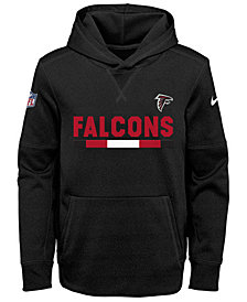 Nike Atlanta Falcons Pullover Therma Hoodie, Big Boys (8-20)