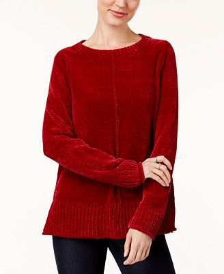 Style & Co Crew-Neck Chenille Sweater, Created for Macy's