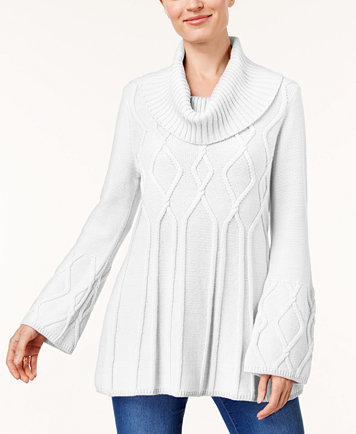 Style & Co Petite Cowl-Neck Tunic Sweater, Created for Macy's ...