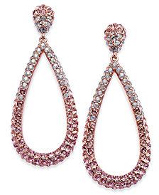 Danori Silver-Tone Ombré Crystal Teardrop Drop Earrings, Created for Macy's