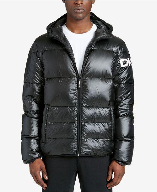 9a65318e2 DKNY Men's Mid-Length Hooded Puffer Jacket & Reviews - Coats ...