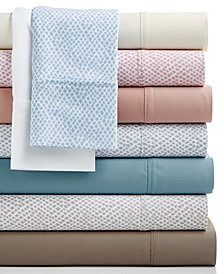 CLOSEOUT! Sorrento Solid and Print 500 Thread Count 6-Pc. Sheet Sets